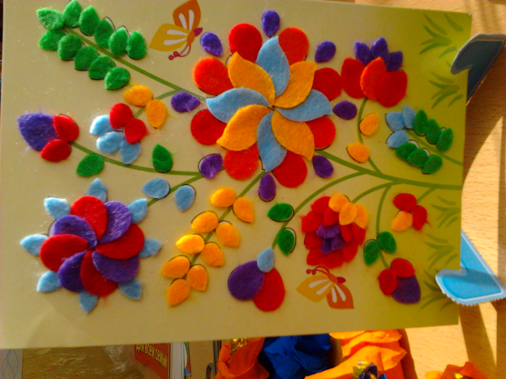 Открытка в форме шляпки с цветком 62