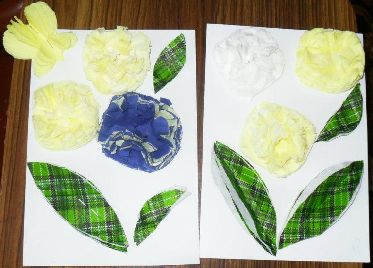 Изготовление открытки из салфеток, днем рождения