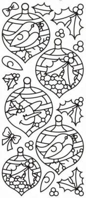 новогодние окна шары, колокольчики