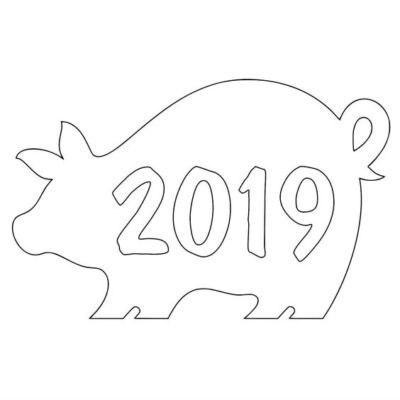 новогодние окна свинка