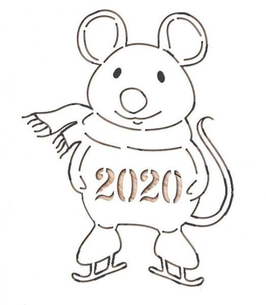 шаблон вытынанка крыса