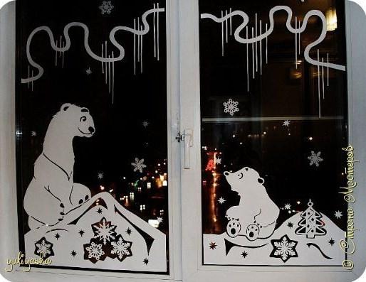 шаблоны вытынанок на новый год