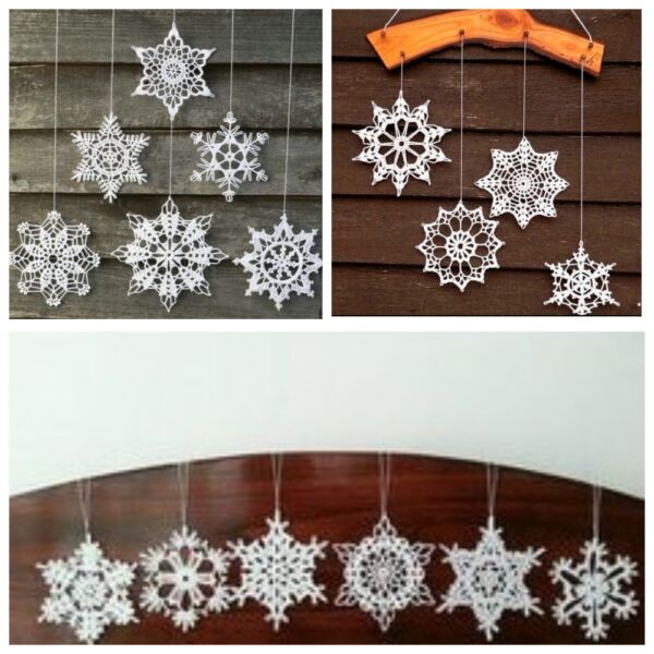 снежинки крючком декор
