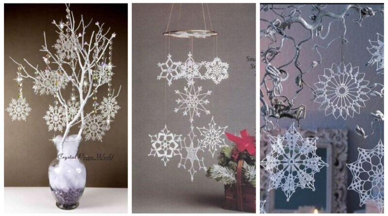 снежинка крючком декор