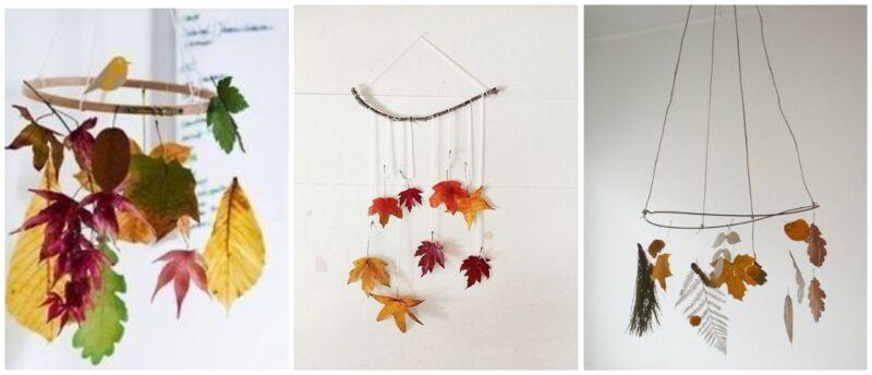 поделки из осенних листьев для садика