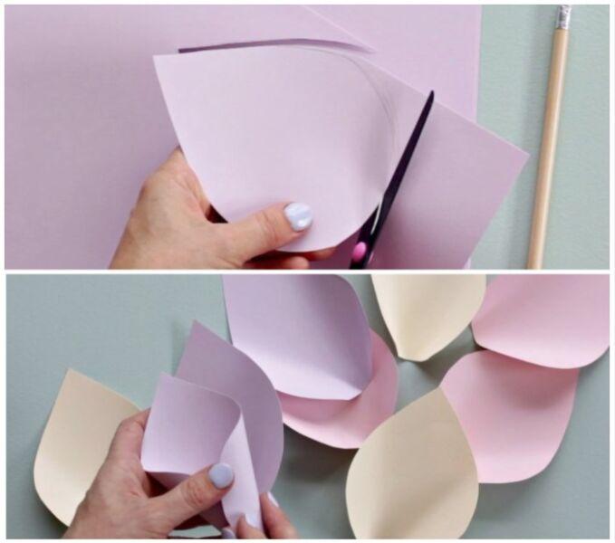 букет из бумаги