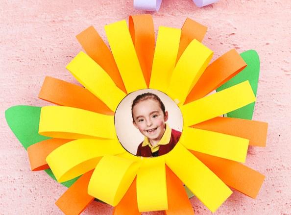 цветок с фото из бумаги