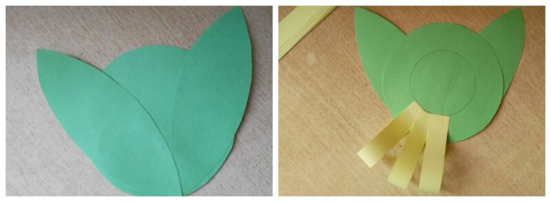 цветок из бумаги поделка в школу